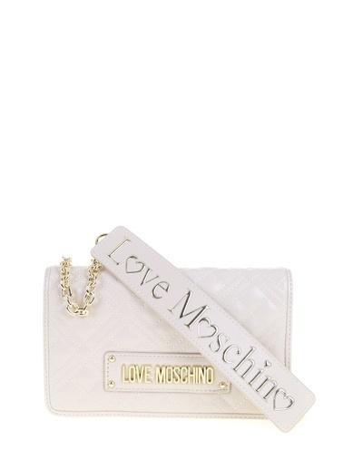 Love Moschino Omuz Çantası Ekru